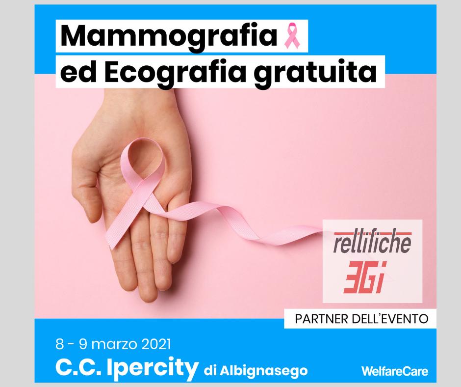 Rettifiche 3Gi è vicina alle donne: siamo partner di Welfarecare, per la prevenzione del tumore al seno.